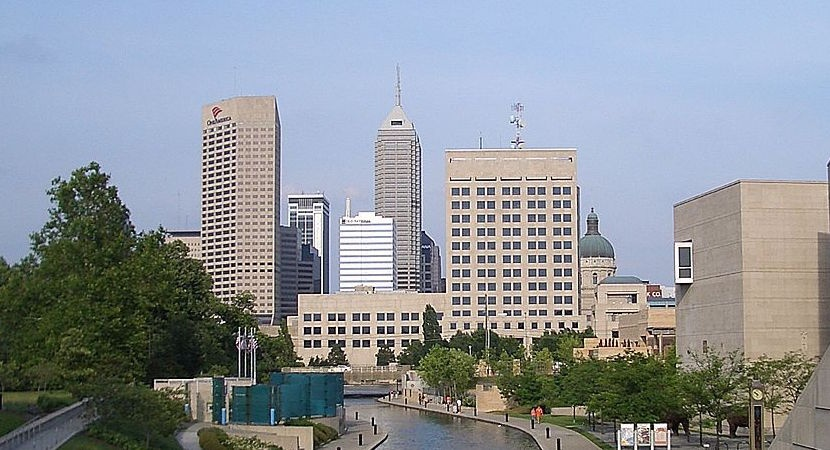 The downtown Indianapolis canal.