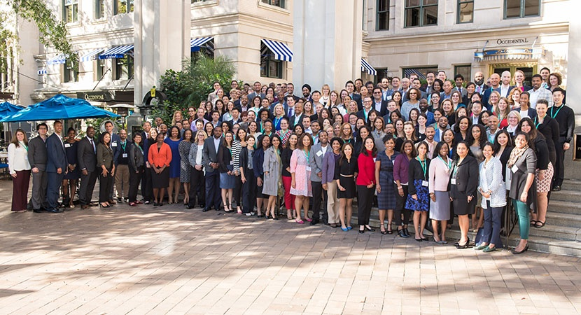 2017 Fellows in front of the Willard InterContinental in Washington, D.C. (Photo by Wilma Jackson)