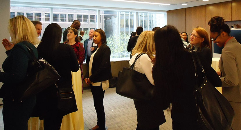 Law school students at a reception at Littler Mendelson P.C. in Washington, D.C. (Photo by Jessica Sabesan)