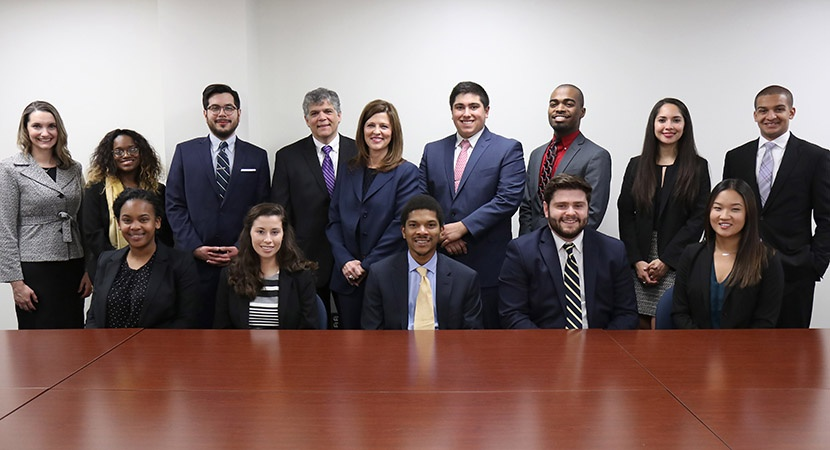 LCLD Mentees and Mentors at the West Virginia University School of Law. (Photo courtesy of the university)