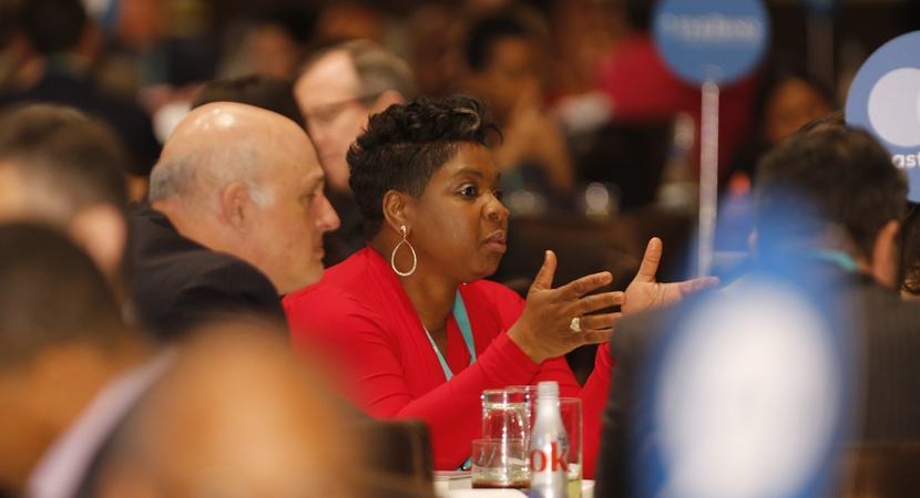 LCLD Members shared ideas on creating more opportunities for diverse talent during table exercises at the 2017 Annual Meeting. (Photo by Joe Mahoney)
