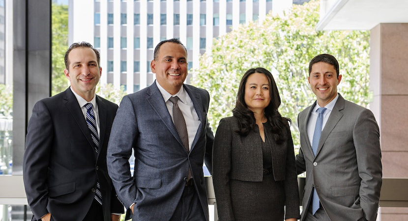 Aaron May, Joseph Ybarra, Katherine Huang, and Carlos Singer, Founding Partners of HYSM LLP.