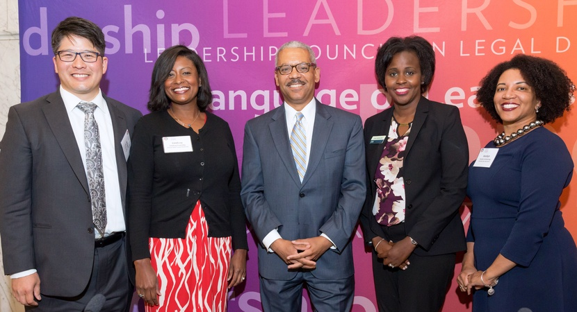 Hosted by Bricker & Eckler, the Ohio event featured speakers including Albert Lin (2014 Fellow),  Lindsay Ford Ellis (COTA),  Richard Moore (LCLD Member), Lisa Kathumbi (2017 Fellow), and Jocelyn Armstrong (Columbus Bar Assoc.). Photos by Ira Graham.